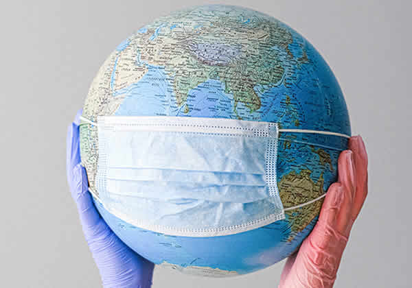 Surgical masks on Globe