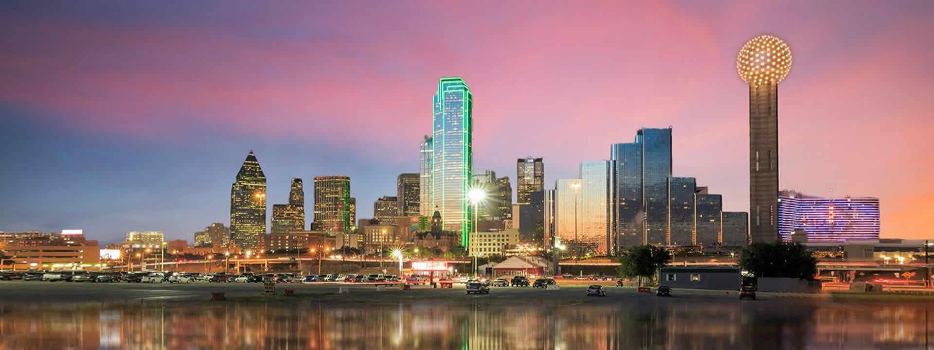 Dallas Private Jet Charter Skyline View
