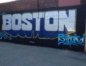 Boston Private Jet Charter Graffiti Wall